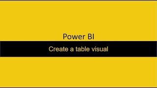 37 إنشاء جدول Power BI