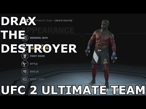 UFC 2 Ultimate Team (Character Creation) Guardians of the Galaxy, Drax The Destroyer!