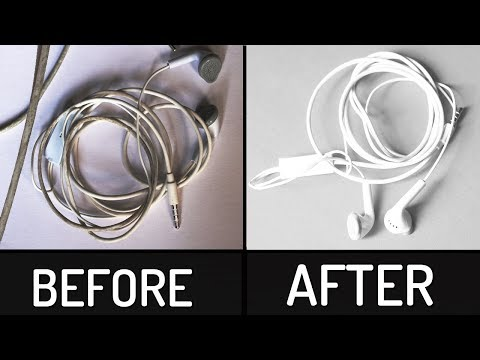 How to Clean White Earphones Data Cable at Home