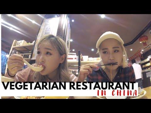 Life In China: VLOG 11 (MUKBANG AT A VEGETARIAN RESTO)
