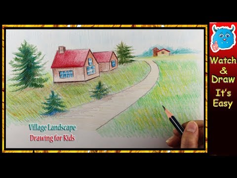 How to Draw Landscape Easy for Kids