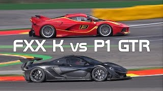 McLaren P1 GTR vs Ferrari FXX K - Sound Comparison!