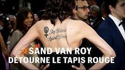 Sand Van Roy détourne le tapis rouge de Cannes