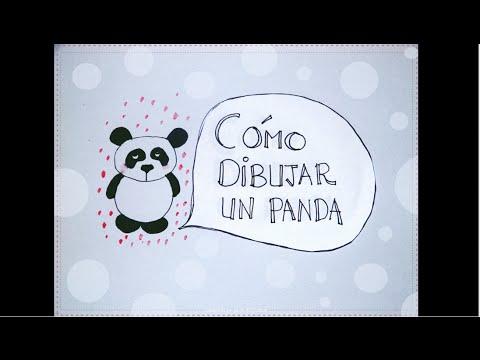 Cmo dibujar un oso panda paso a paso Dibujo fcil para nios