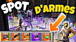 FORTNITE - SPOT COFFRES AND LEGENDARY ARMES (SAUVER THE WORLD) ASTUCE