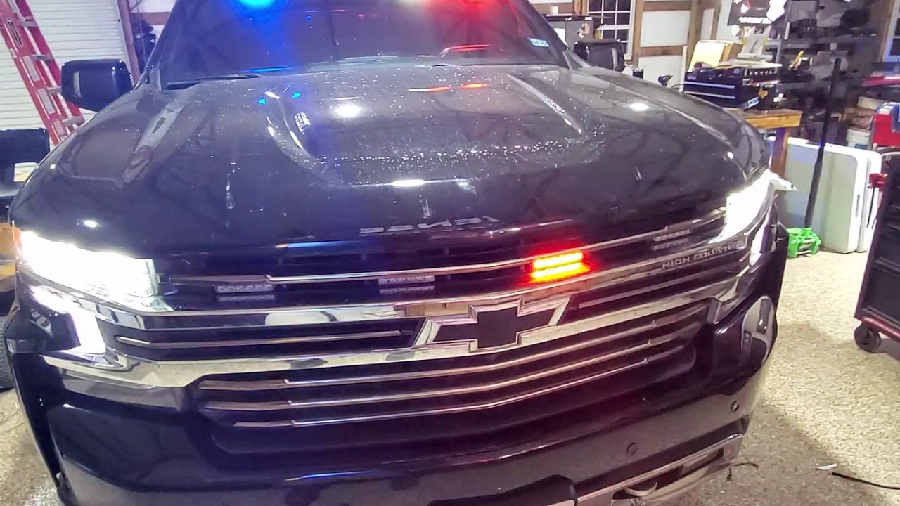 ILMODS - 2020 Chevy Silverado High Country Equipped with Feniex Industries Emergency Lights & Siren