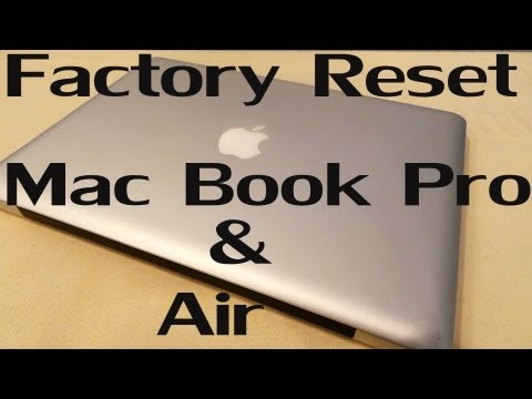 How to factory reset a macbook pro 2020