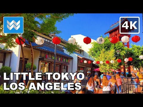 Walking Tour Of Little Tokyo In Downtown Los Angeles, California 【4K】