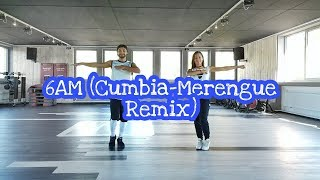 J.Balvin ft. Farruko - 6AM (Cumbia-Merengue Remix) // Choreo by Flurim & Anka // ZUMBA