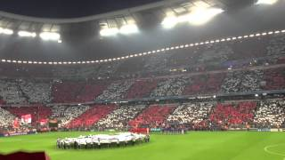 23.04.2013 FC Bayern - FC Barcelona CL-Hymne Allianz-Arena Choreographie LIVE Champions League