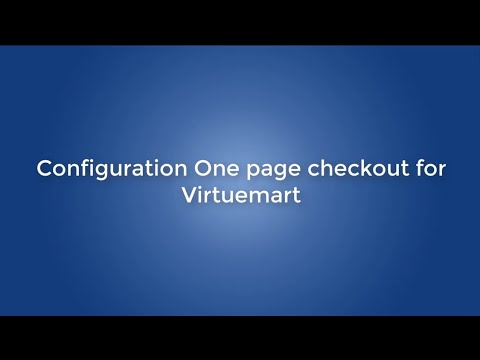 How To Configure One Page Checkout For Virtuemart