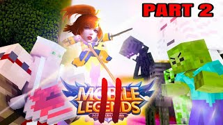 MONSTER SCHOOL VS (MOBA) Mobile Legends PART II (Minecraft Animation)