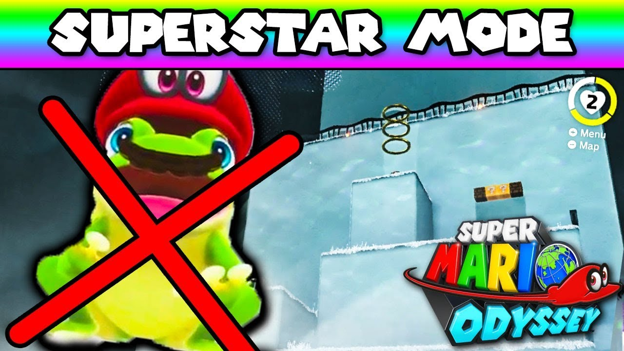 The First Level But All Frogs Are Removed || Mario Odyssey Superstar Mode