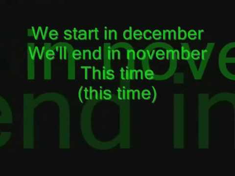 A Change of Pace- December (Lyrics)
