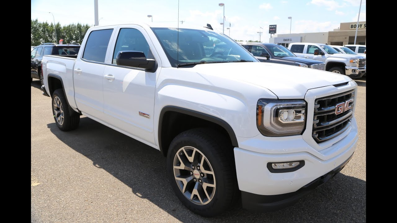 2017 summit white gmc sierra slt 1500 all terrain for sale in medicine hat alberta youtube. Black Bedroom Furniture Sets. Home Design Ideas
