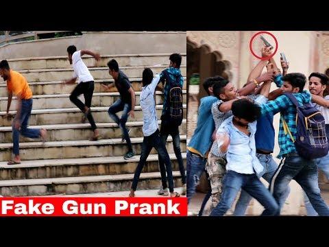 Fake Gun Prank In Public Unique Style | Prank In India | Ar Prank