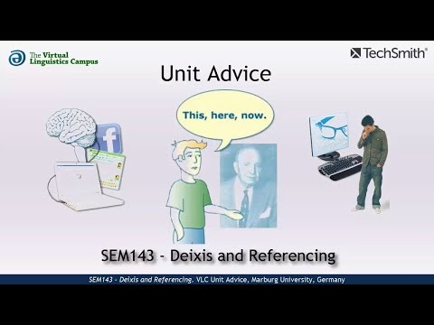 SEM143 - Unit Advice (Deixis and Referencing)