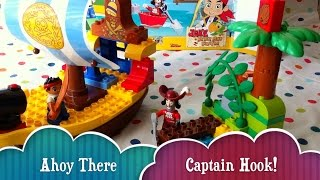 Lego Duplo Pirate Jake With Captain Hook Time Lapse Kids Toy Review Video