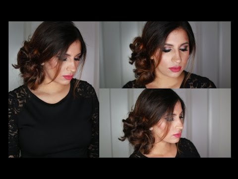 Simple And Quick Side Updo (5 Min)