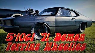 Wheels in the AIR! 540ci Big Block Dodge Demon at MoKan Dragway