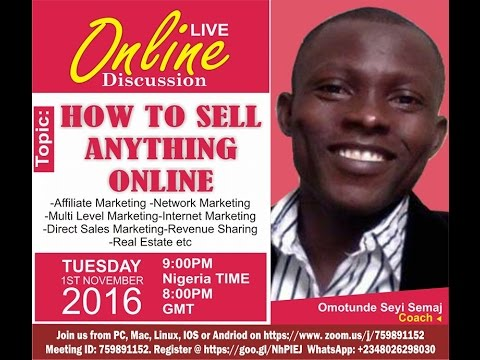 How to Sell and Market Anything Online