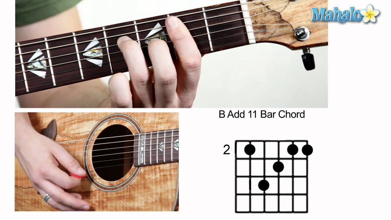 how to play b add 11 bar chord on guitar youtube. Black Bedroom Furniture Sets. Home Design Ideas