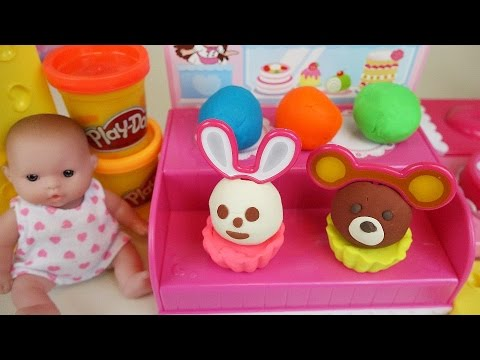 Thumbnail: Baby doll and Play-Doh Cake shop toys