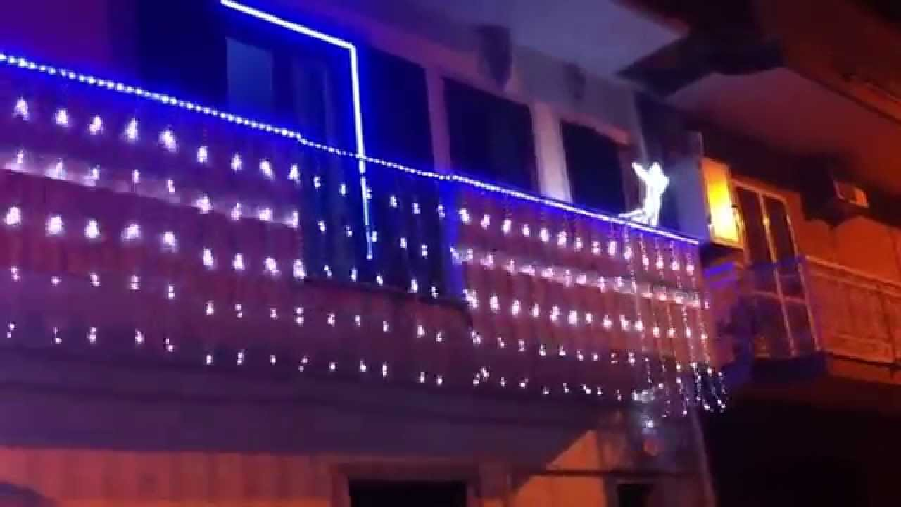 Illuminazione Balcone Natale: Illuminazione balcone natale luminarie raggiotto impianti tempo.