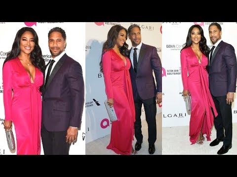 Love At First Sight: Kenya Moore & Husband Marc Daly Attends Elton John Oscar Party...