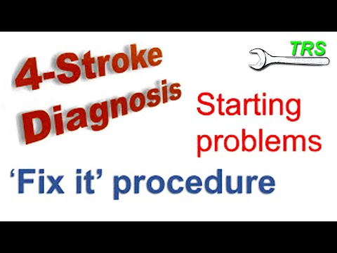Small Four Stroke Engine Starting Problems Procedure/ Diagnosis Procedure