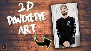 Cover images 2D PewDiePie MERCH ART CHALLENGE SPEEDART!! - LIT Panda