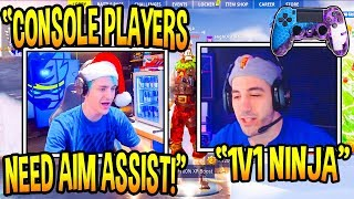 Ninja HATES On Console Players Unable To Play Without Aim Assist! (Fortnite Moments)