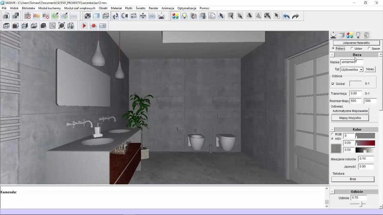 Projekt łazienki W Intericad T6 Część Ii Akademia Intericad