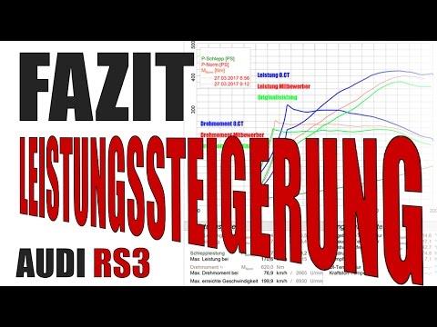 Fazit Leistungssteigerung RS3