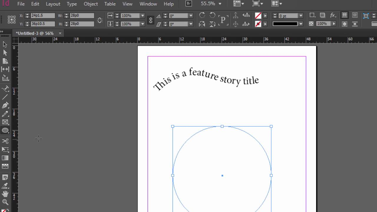 Type on a Path Tool Adobe InDesign Tutorial
