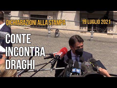 Le dichiarazioni di Giuseppe Conte dopo l'incontro con Mario Draghi