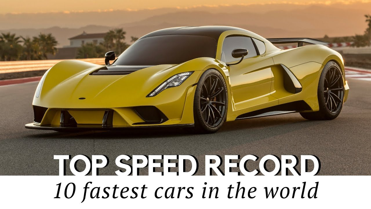 Hennessey Venom F5 to Top the List of 10 Fastest Cars in 2018 - YouTube