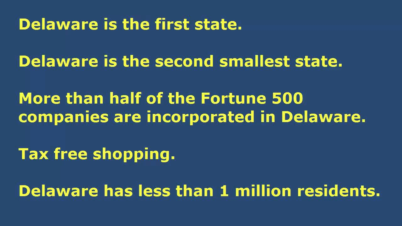 Most Interesting Facts >> Top 10 Most Interesting Facts About Delaware Youtube