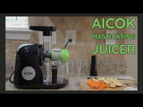 Aicok Masticating Juicer | First Juice & Taste Test!
