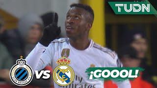 ¡Vinicius adelanta al Madrid! | Club Brujas 1 - 2 Real Madrid | Champions League  J6  Grupo A | TUDN
