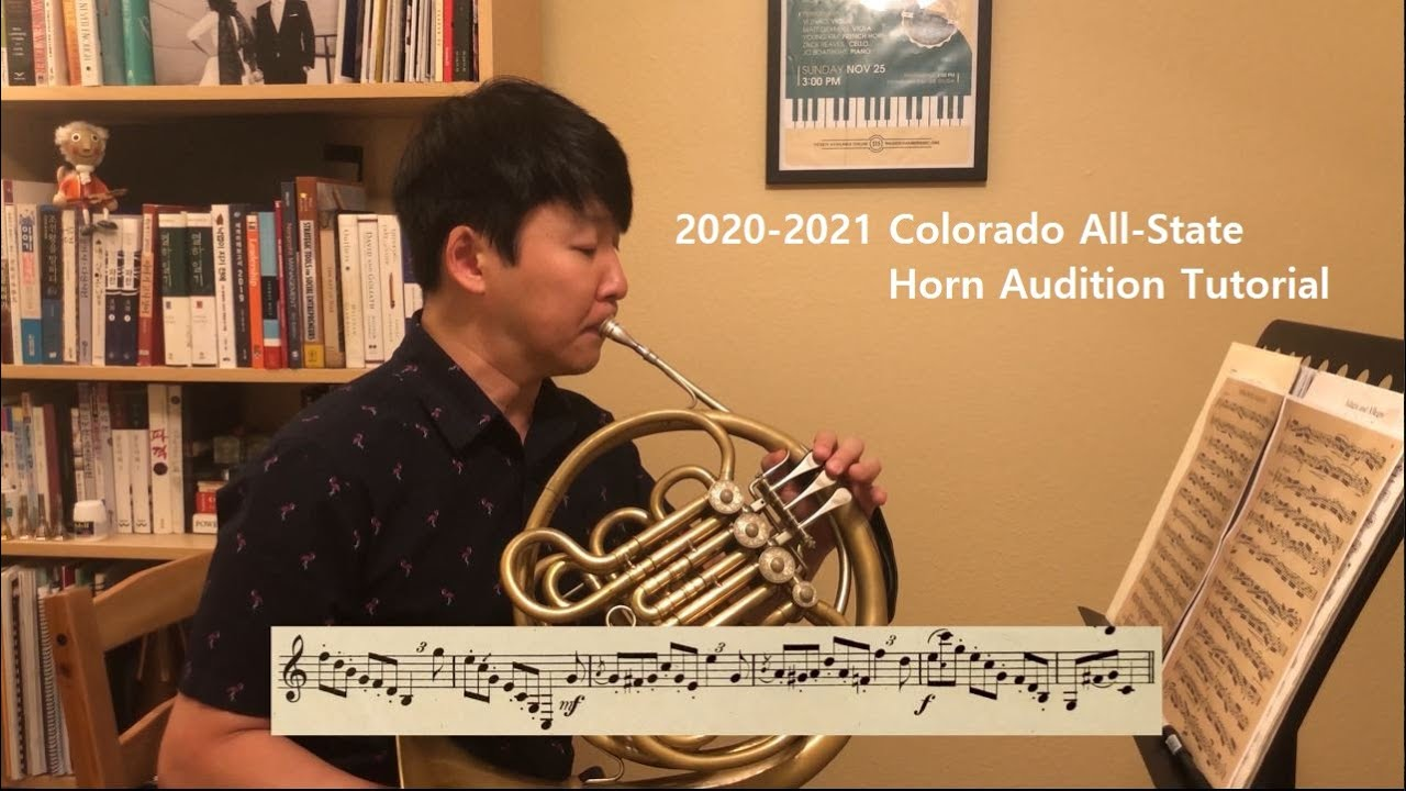 2020-2021 Colorado All-State Horn Audition Music Tutorial
