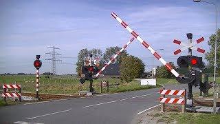Spoorwegovergang Stedum // Dutch railroad crossing