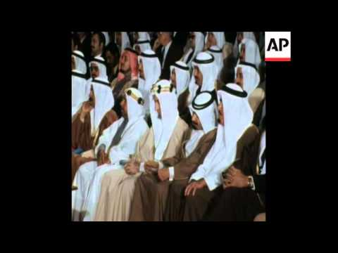 SYND 5 12 74 KING FAISAL AND OIL MINISTER OPEN PETROLEUM COLLEGE IN SAUDI ARABIA