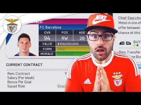 MESSI & RONALDO TO BPL! EPIC TRANSFER WINDOW INC! FIFA 16 Benfica Career Mode #01