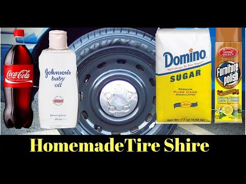 NEVER BUY TIRE SHINE AGAIN!  Cheap DIY Homemade $1 Tire Shine for $1