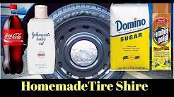 CHEAP DIY Homemade Tire Shine for $1? Coke, Sugar, Baby Oil and Furniture Polish Tire Shine Test
