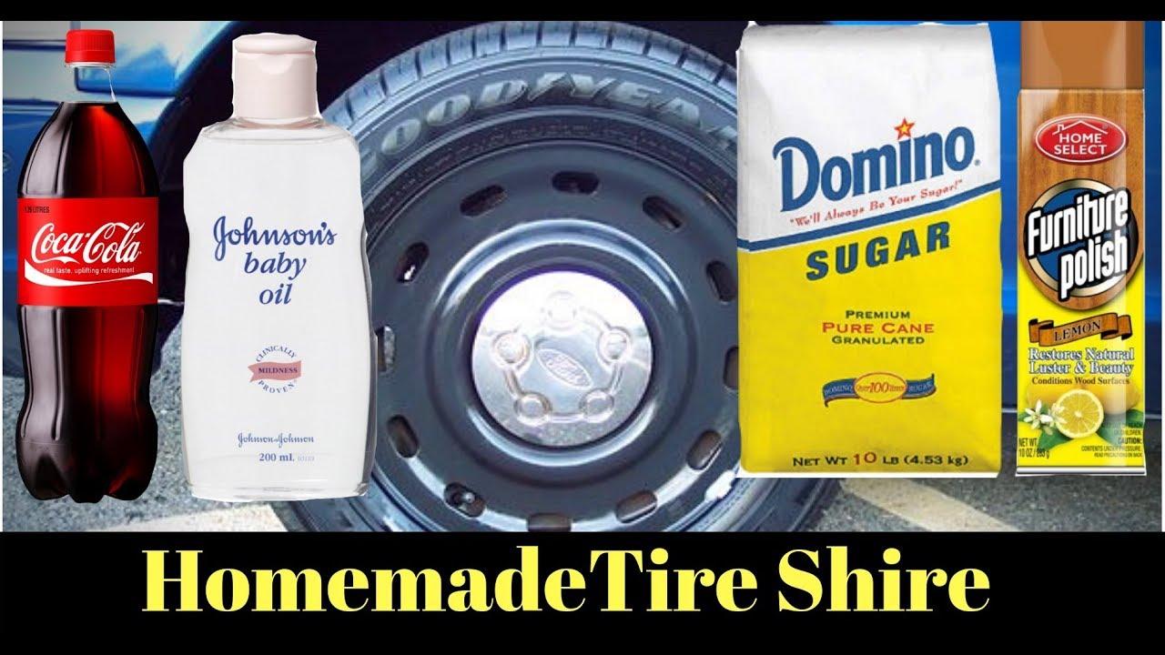 Cheap DIY Homemade $1 Tire Shine for