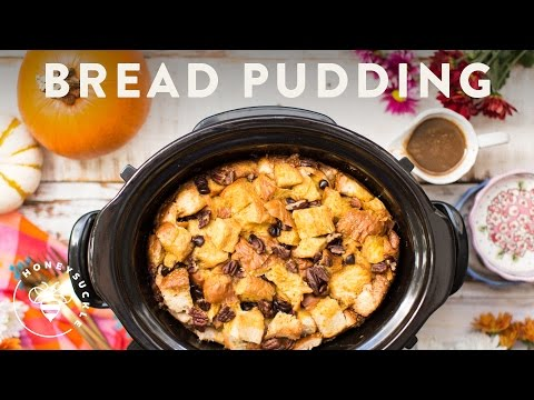 Pumpkin Pecan Bread Pudding With Crock-Pot® Slow Cooker - Honeysuckle