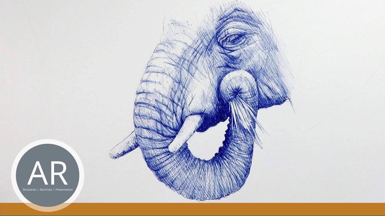 Tiere Zeichnen Lernen Elefanten Zeichnen Mappenvorbereitungskurs