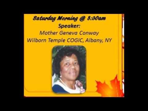Mother Geneva Conway- New Horizons Women's Retreat  - Oct 8, 2016 (Audio)